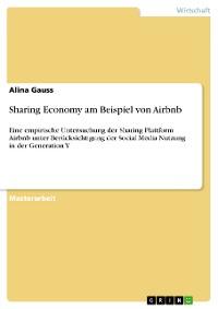 Cover Sharing Economy am Beispiel von Airbnb