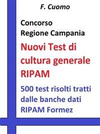 Cover Concorso Regione Campania - Nuovi Test cultura generale RIPAM