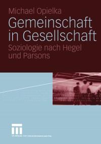 Cover Gemeinschaft in Gesellschaft