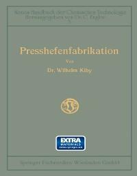 Cover Handbuch der Presshefenfabrikation
