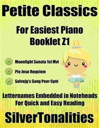 Cover Petite Classics for Easiest Piano Booklet Z1