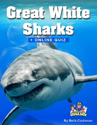 Cover Great White Shark Activity Book for ages 4-8 years of age