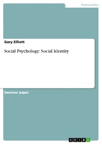 Cover Social Psychology: Social Identity