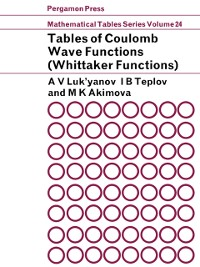 Cover Tables of Coulomb Wave Functions