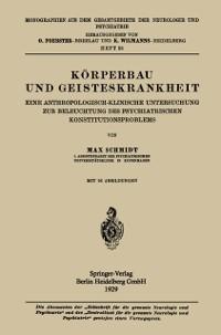 Cover Korperbau und Geisteskrankheit