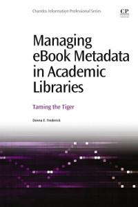 Cover Managing eBook Metadata in Academic Libraries