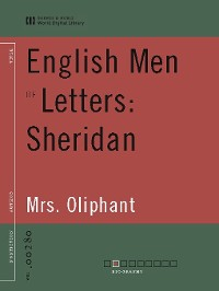 Cover English Men of Letters: Sheridan (World Digital Library)