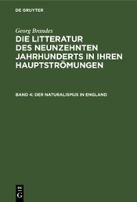 Cover Der Naturalismus in England