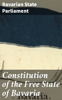 Cover Constitution of the Free State of Bavaria