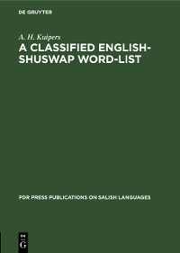 Cover A Classified English-Shuswap Word-List