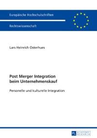 Cover Post Merger Integration beim Unternehmenskauf