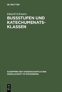 Cover Bußstufen und Katechumenatsklassen