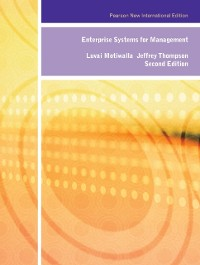 Cover Enterprise Systems for Management: Pearson New International Edition