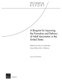 Cover A Blueprint for Improving the Promotion and Delivery of Adult Vaccination in the United States