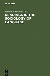 Cover Readings in the Sociology of Language