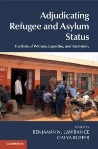 Cover Adjudicating Refugee and Asylum Status