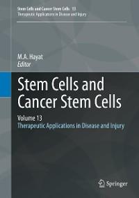 Cover Stem Cells and Cancer Stem Cells, Volume 13