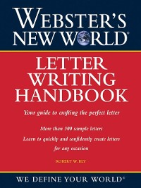 Cover Webster's New World Letter Writing Handbook