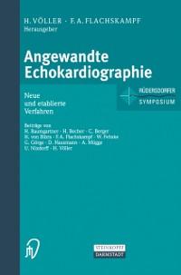 Cover Angewandte Echokardiographie