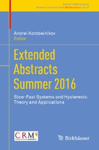Cover Extended Abstracts Summer 2016
