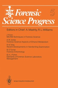 Cover Forensic Science Progress