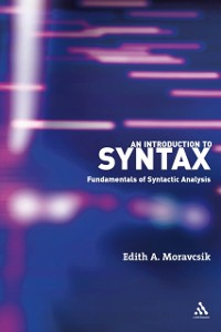 Cover Introduction to Syntax