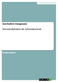 Cover Stressreaktionen im Arbeitskontext