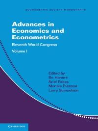 Cover Advances in Economics and Econometrics