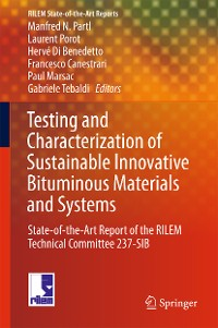 Cover Testing and Characterization of Sustainable Innovative Bituminous Materials and Systems