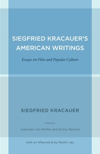 Cover Siegfried Kracauer's American Writings