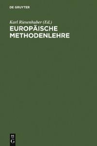 Cover Europäische Methodenlehre