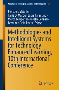 Cover Methodologies and Intelligent Systems for Technology Enhanced Learning, 10th International Conference