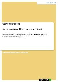 Cover Interessenskonflikte im Aufsichtsrat