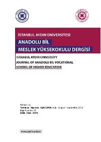 Cover Anadolu Bil MYO Dergisi