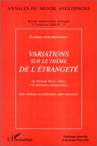 Cover Variations sur le theme de l'etrangete