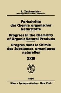 Cover Fortschritte Der Chemie Organischer Naturstoffe / Progress in the Chemistry of Organic Natural Products / Progres Dans La Chimie Des Substances Organiques Naturelles