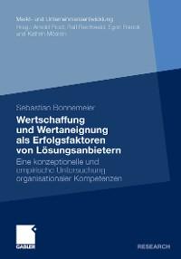 Cover Wertschaffung und Wertaneignung als Erfolgsfaktoren von Lösungsanbietern