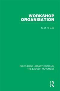 Cover Workshop Organisation