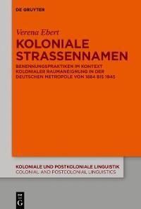 Cover Koloniale Straßennamen