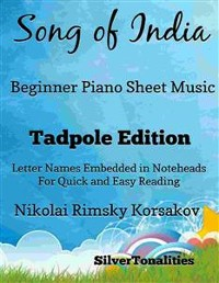 Cover Song of India Beginner Piano Sheet Music Tadpole Edition