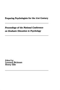Cover Preparing Psychologists for the 21st Century