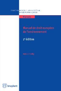 Cover Manuel de droit européen de l'environnement
