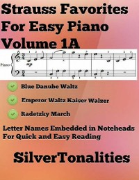 Cover Strauss Favorites for Easy Piano Volume 1 A