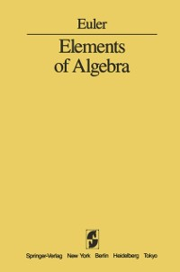 Cover Elements of Algebra