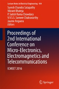 Cover Proceedings of 2nd International Conference on Micro-Electronics, Electromagnetics and Telecommunications