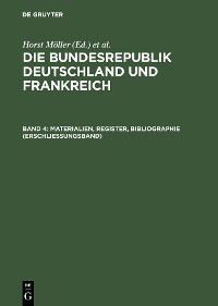Cover Materialien, Register, Bibliographie (Erschließungsband)