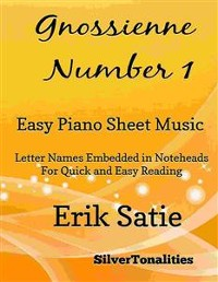 Cover Gnossienne Number 1 Easy Piano Sheet Music