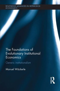 Cover Foundations of Evolutionary Institutional Economics