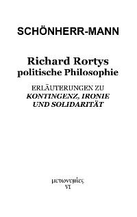 Cover Richard Rortys politische Philosophie