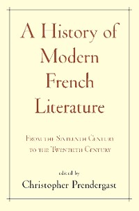 Cover A History of Modern French Literature